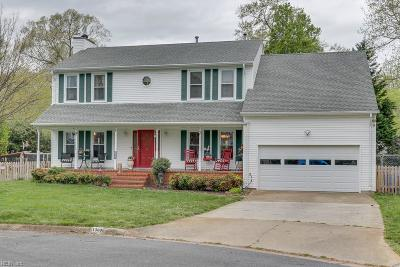 Chesapeake Single Family Home New Listing: 1300 John Anthony Ct