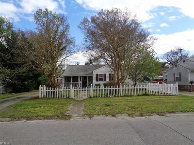 Norfolk Single Family Home New Listing: 505 Burksdale Rd