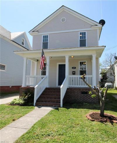 Norfolk Single Family Home New Listing: 237 W 27th St