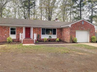 Chesapeake Single Family Home New Listing: 2124 Christopher Dr