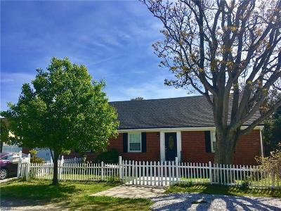 Norfolk Single Family Home New Listing: 9626 Worth St