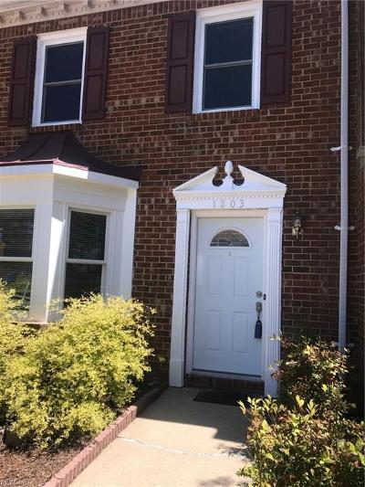Chesapeake Single Family Home New Listing: 1203 Cedar Mill Sq