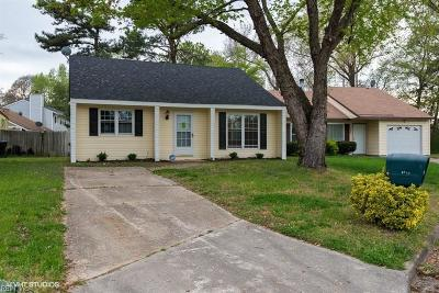 Portsmouth Single Family Home New Listing: 3906 Stateflower Ct
