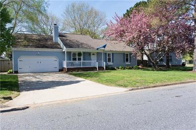 Chesapeake Single Family Home New Listing: 1005 Priscilla Ln
