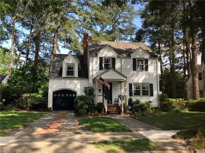 Norfolk Single Family Home New Listing: 127 W Belvedere Rd