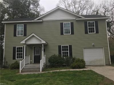 Norfolk Single Family Home New Listing: 8012 Simons Dr