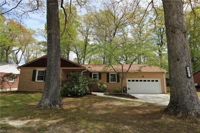 Newport News Single Family Home New Listing: 886 Catalina Dr