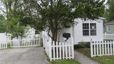 Norfolk VA Single Family Home New Listing: $79,500
