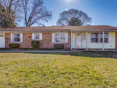 Virginia Beach Single Family Home New Listing: 3845 Charter Oak Rd