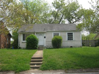 Norfolk Single Family Home New Listing: 921 Craten Rd