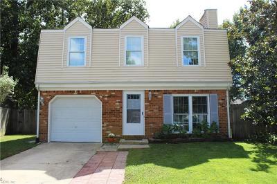 Virginia Beach Single Family Home New Listing: 1508 Crawley Cir