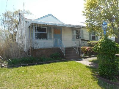 Norfolk VA Single Family Home New Listing: $59,000