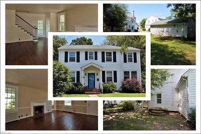 Newport News Single Family Home New Listing: 702 River Rd