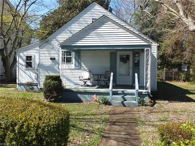 Hampton Single Family Home New Listing: 605 Maryland Ave