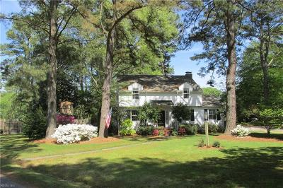 Portsmouth Single Family Home For Sale: 5112 Holly Rd