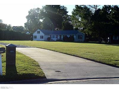 Suffolk Single Family Home For Sale: 5601 River Bluff Dr