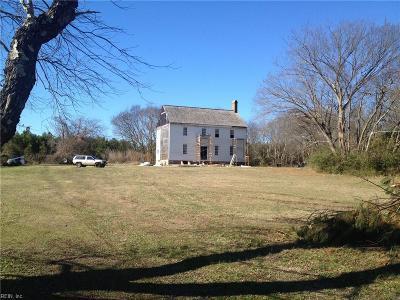 Northampton County, Accomack County Single Family Home For Sale: 13401 Seaside Rd