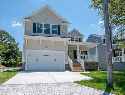 Norfolk Single Family Home For Sale: 9554 20th Bay St