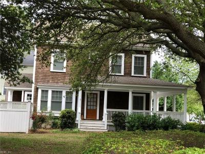 Norfolk Single Family Home For Sale: 9621 6th Bay St