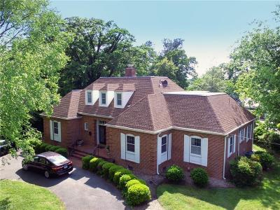Norfolk Single Family Home For Sale: 6035 River Rd