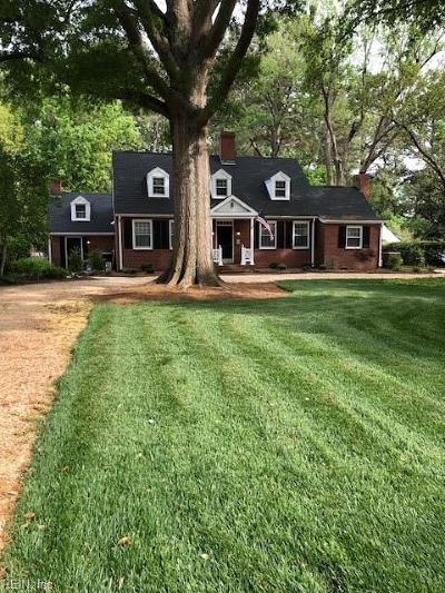 Newport News Single Family Home Under Contract: 126 James River Dr