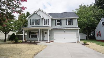 Norfolk Single Family Home New Listing: 8951 Hammett Ave