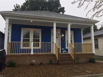 Norfolk Single Family Home New Listing: 2313 Saint Denis Ave