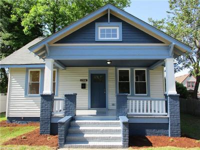Portsmouth Single Family Home New Listing: 1708 Mathews Ter