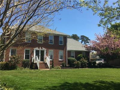 Virginia Beach Single Family Home New Listing: 1704 Colson Ct