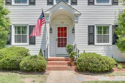 Norfolk Single Family Home New Listing: 502 Talbot Hall Rd