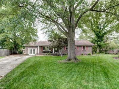 Chesapeake Single Family Home New Listing: 212 Vanette Dr