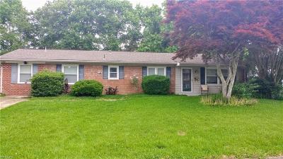 Virginia Beach Single Family Home New Listing: 3828 Charter Oak Rd