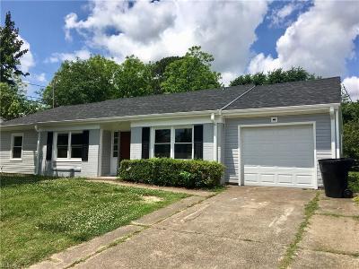 Virginia Beach VA Single Family Home New Listing: $292,000