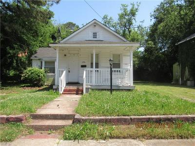 Newport News Single Family Home New Listing: 1354 29th St