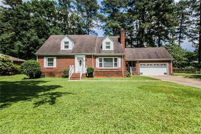 Chesapeake Single Family Home New Listing: 237 Hall Dr