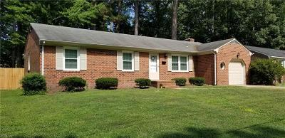 Newport News Single Family Home New Listing: 63 Huxley Pl