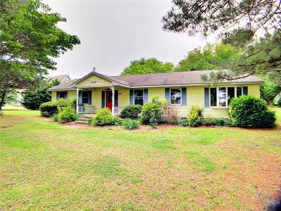 Accomack County Single Family Home Under Contract: 16582 Coal Kiln Rd