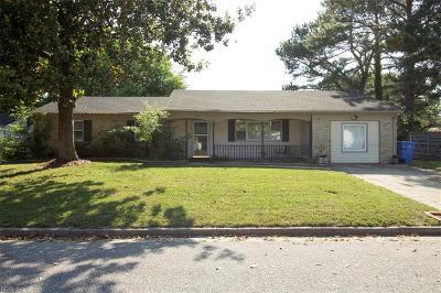 Chesapeake Single Family Home New Listing: 3100 Sir Tristram Ct