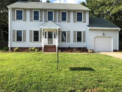 Chesapeake Single Family Home New Listing: 1029 Weeping Willow Dr