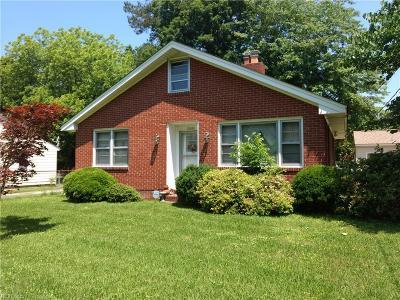 Portsmouth Single Family Home New Listing: 5804 Bertrand St