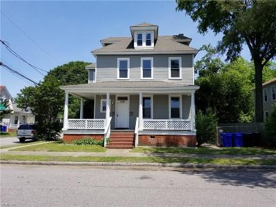 Portsmouth Single Family Home New Listing: 1328 Crawford Parkway, Portsmouth, Va Pw S