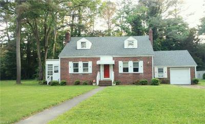 Portsmouth Single Family Home New Listing: 4605 Duke Dr