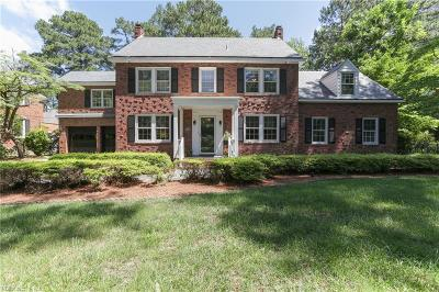 Norfolk Single Family Home For Sale: 1396 Emory Pl