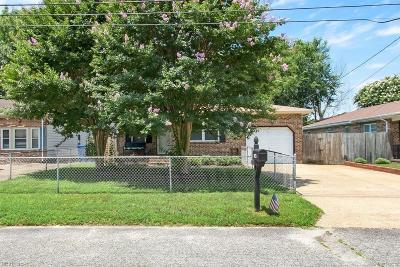 Chesapeake Single Family Home New Listing: 1423 Philmont Ave