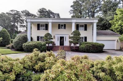 Newport News Single Family Home For Sale: 110 Longwood Dr