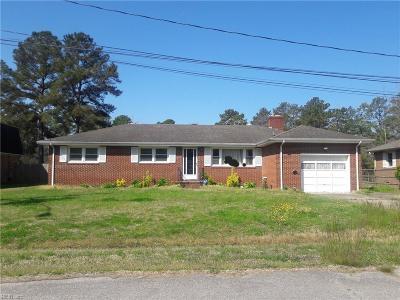 Chesapeake Single Family Home New Listing: 212 Shore Side Rd