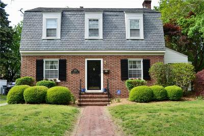 Norfolk Single Family Home New Listing: 1122 Larchmont Cres