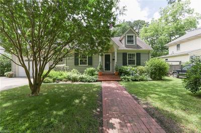 Norfolk Single Family Home New Listing: 117 Afton Ave