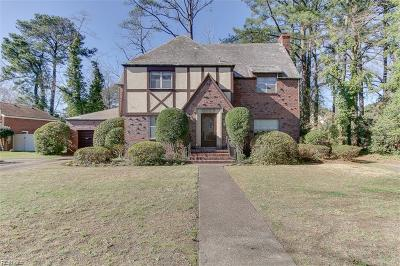 Norfolk Single Family Home New Listing: 6019 S River Rd