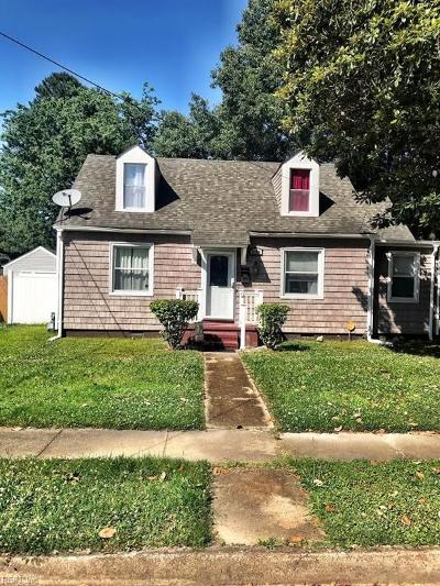 Norfolk Single Family Home New Listing: 3600 Pamlico Cir